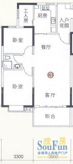 广州恒鑫御雅庭户型图