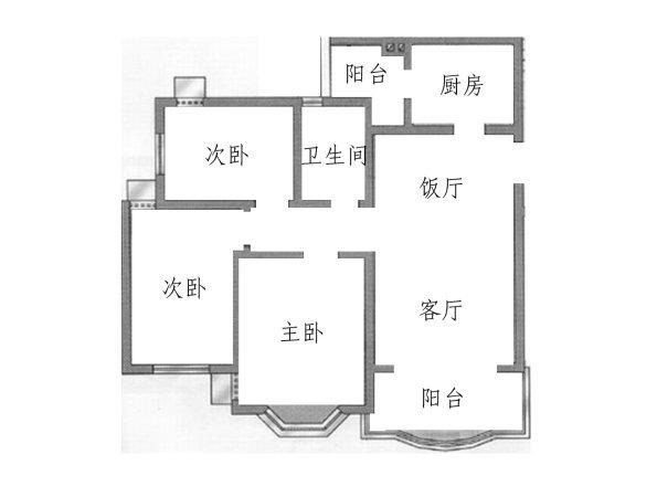 广州祈福新村蝶舞轩户型图