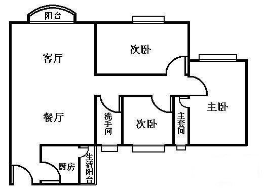 广州雅怡居户型图