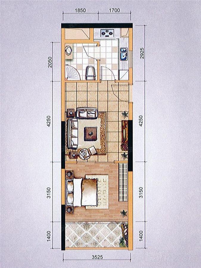 推推99广州房产网东山印象台户型图