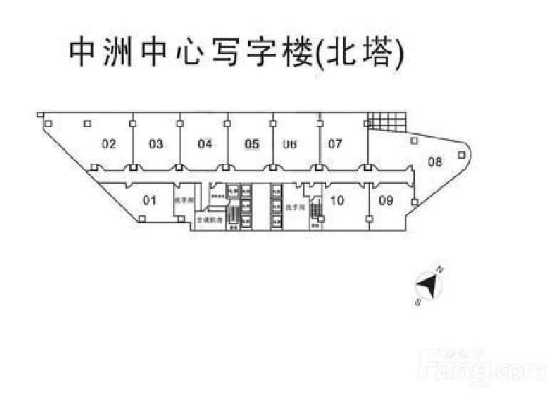 推推99房产网广州中洲中心写字楼写字楼在售房源图片